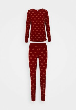 DAMEN LANG VALENTINE SPECIAL SET - Pyjama set - red