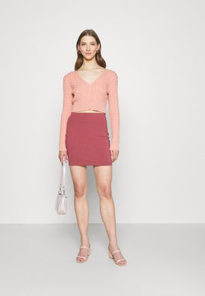 2 PACK - Minifalda - black/pink
