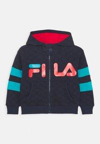 Fila - ANTONIO TRACK JACKET - Zip-up hoodie - black iris/capri breeze - 0