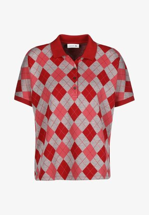Polo shirt - alizarine/argent chine