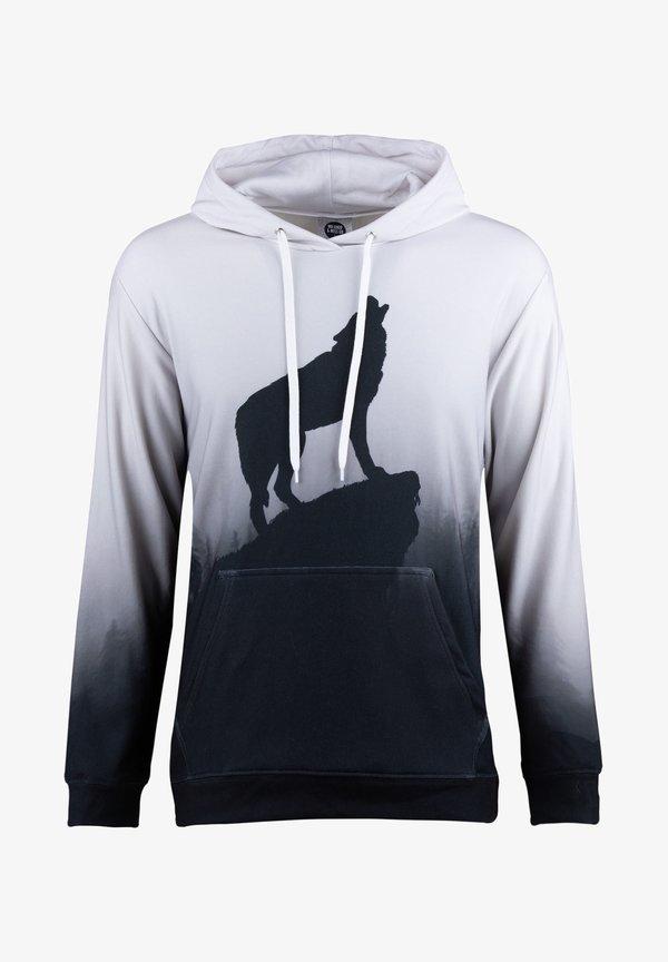 Mr. GUGU & Miss GO SHADOW OF WOLF - Bluza z kapturem - grey/szary Odzież Męska WDXZ