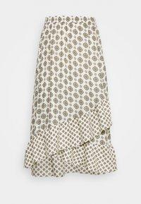 LUX PIN ASSYM - A-line skirt - bone