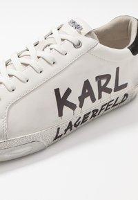 KARL LAGERFELD - SKOOL BRUSH LOGO LACE - Trainers - white - 5