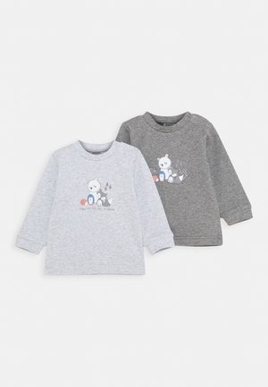2 PACK - Langærmede T-shirts - grey