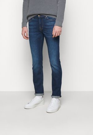 RONNIE CRUX - Džíny Slim Fit - mid blue