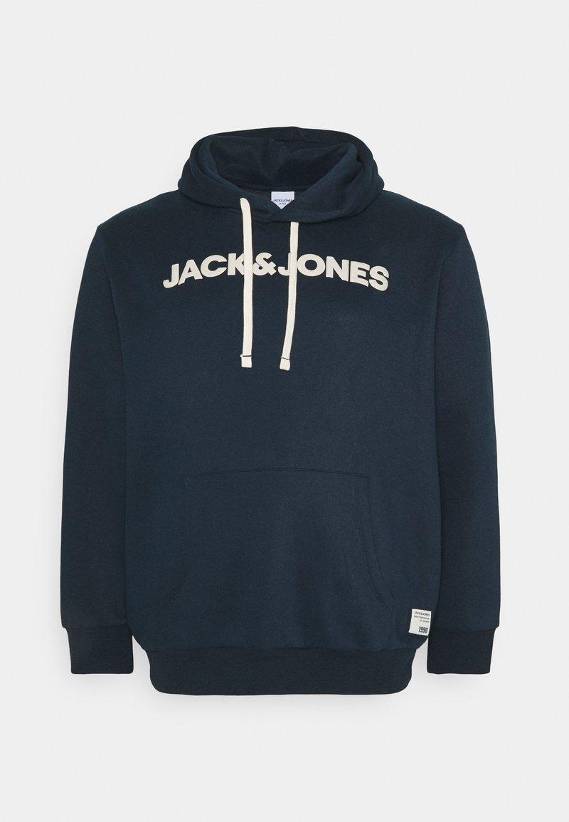 Jack & Jones - JOR30HISTORY HOOD - Hoodie - navy blazer