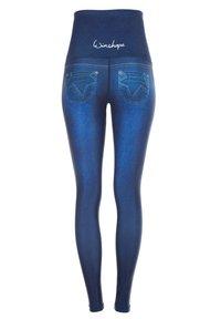 Winshape - HWL102 INDIGO-BLUE HIGH WAIST -TIGHTS - Leggings - indigo blue - 4