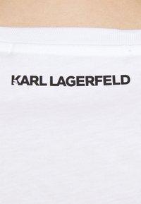 KARL LAGERFELD - IKONIK CHOUPETTE - Print T-shirt - white - 3