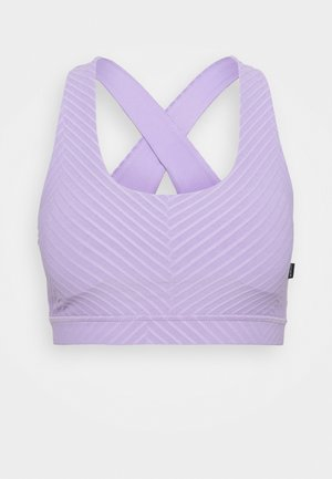 WORKOUT CUT OUT CROP - Light support sports bra - chalky lavender