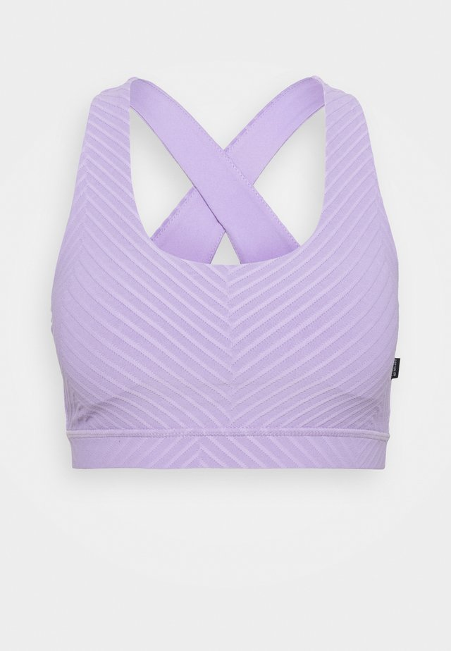 WORKOUT CUT OUT CROP - Sport-bh met light support - chalky lavender