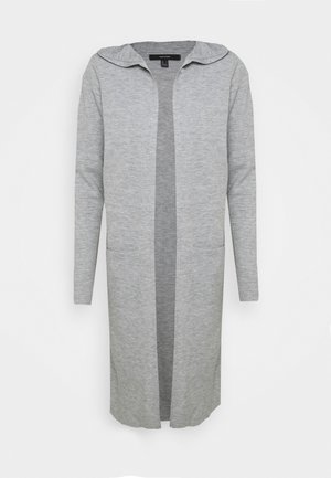 VMAMAI OPEN HOOD CARDIGAN - Gilet - light grey melange