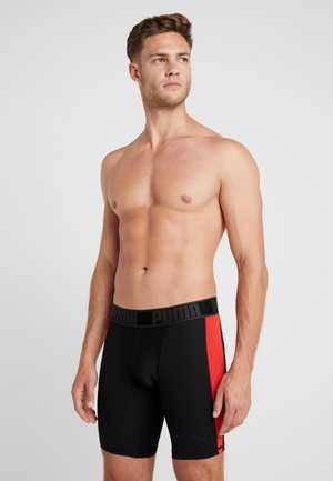ACTIVE LONG BOXER PACKED - Onderbroeken - black/red