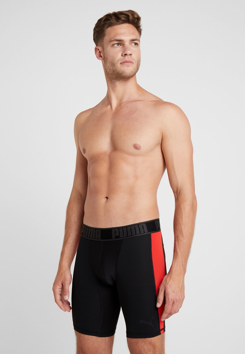 Puma - ACTIVE LONG BOXER PACKED - Panties - black/red