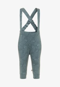 Müsli by GREEN COTTON - WOLF SUSPENDERS PANTS - Kangashousut - lagoon green - 0