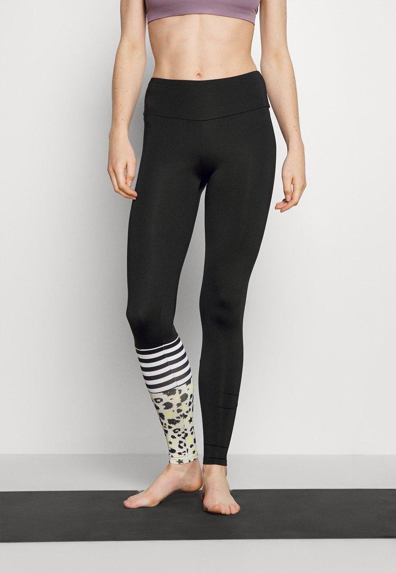 Hey Honey - SURF STYLE DREAMLAND - Leggings - neon yellow/black
