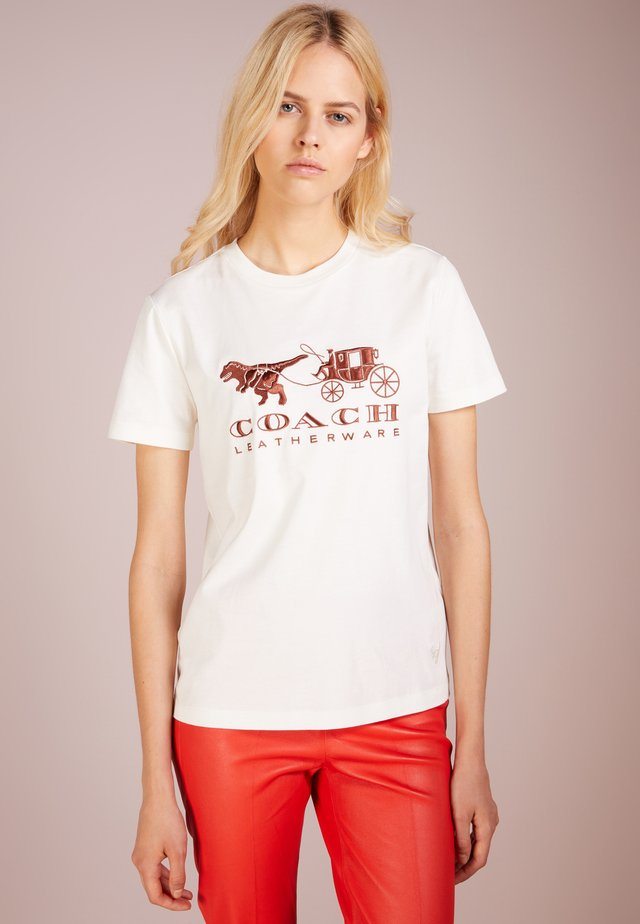 REXY AND CARRIAGE - Print T-shirt - white