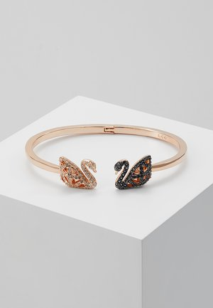 FACET SWAN BANGLE - Armband - rosegold-coloured/black