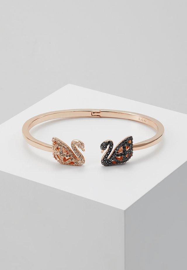 FACET SWAN BANGLE - Bracelet - rosegold-coloured/black