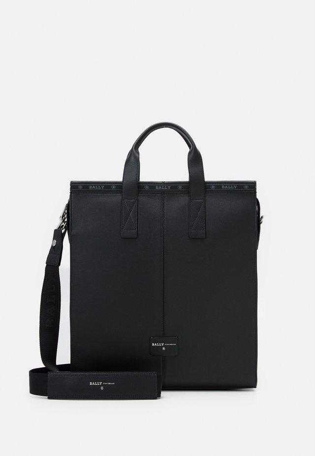 HEATH - Tote bag - black/bone/red