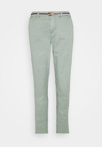 SLIM - Spodnie materiałowe - light khaki