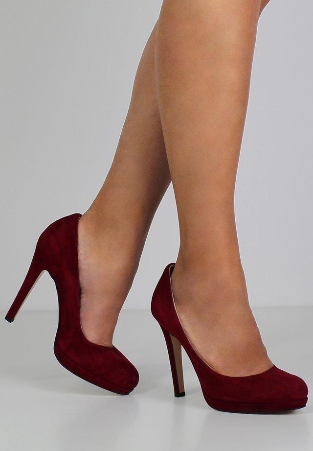 Hoge hakken - dark red