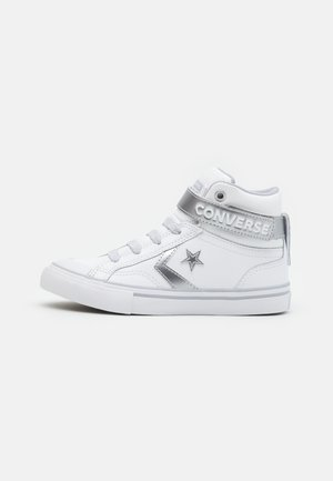 PRO BLAZE STRAP - High-top trainers - white/metallic/gravel