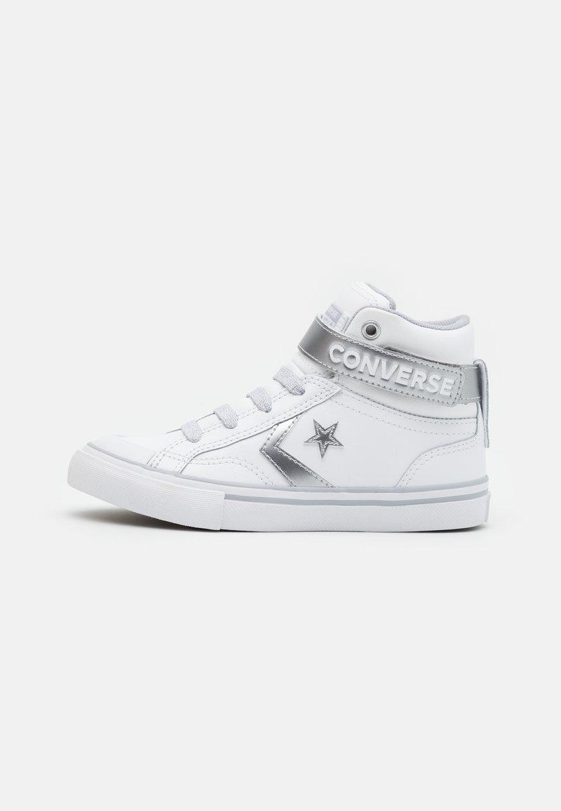 Converse - PRO BLAZE STRAP - Zapatillas altas - white/metallic/gravel