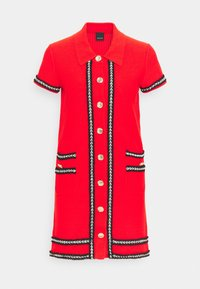 Pinko - FOOTBALL ABITO STRETCH - Shirt dress - red - 5