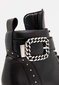 The Kooples - BUCKLE BOOT - Ankle boots - black/silver - 2