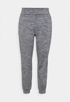 ONPMETEA FOLD CURVY - Tracksuit bottoms - medium grey melange