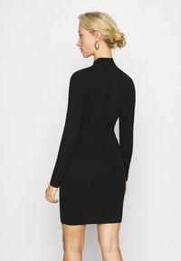 Calvin Klein Jeans - ROLL NECK DRESS - Jumper dress - black - 2