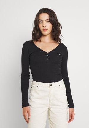 HENLEY - Long sleeved top - black