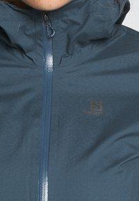 Salomon - LIGHTNING - Hardshell jacket - dark denim - 4
