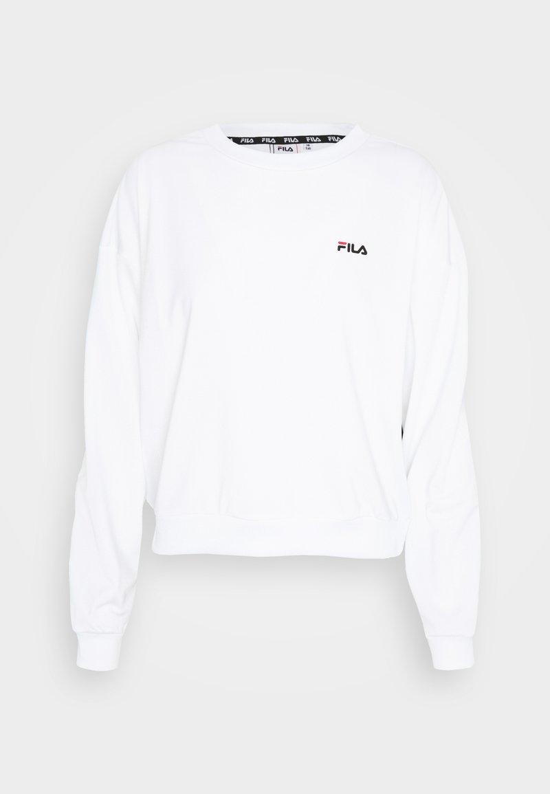 Fila Tall - TALLIS CREW - Long sleeved top - bright white