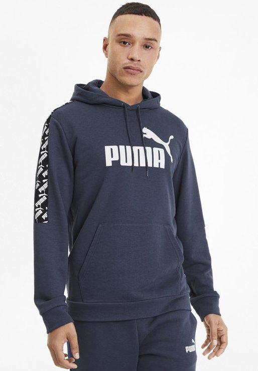 Puma - AMPLIFIED  - Hættetrøjer - dark denim