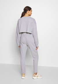 Missguided - ZIP FRONT CROPPED  SLIM LINE SET - Tracksuit - grey - 5