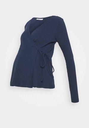 LADIES WRAP - Maglietta a manica lunga - navy