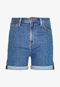 MOM - Denim shorts - mid stonewash