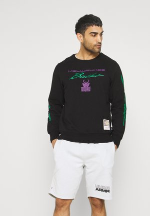 NBA MILWAUKEE BUCKS FLAMES RACING CREWNECK - Sweatshirt - black
