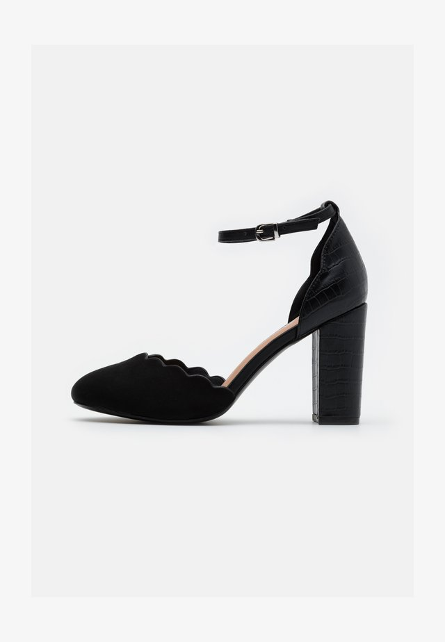 WIDE FIT WHISPER - Escarpins à talons hauts - black