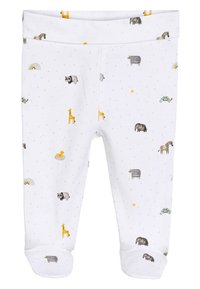 Next - WHITE GOTS ORGANIC THREE PIECE LEGGINGS, T-SHIRT AND HAT SET (0- - Hat - white - 3
