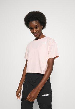 SIMPLE DOME TEE - Print T-shirt - peach pink/gardenia white