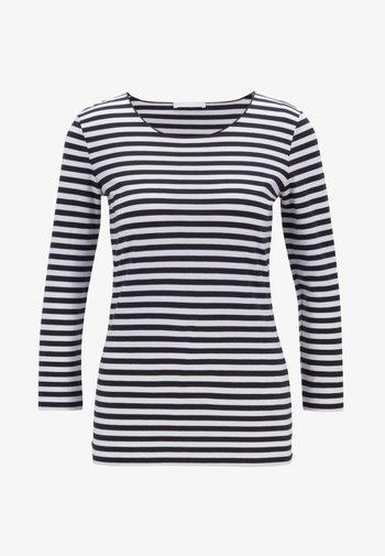 E4513 - Long sleeved top - black/white