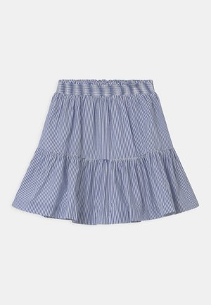 A-line skirt - royal/white
