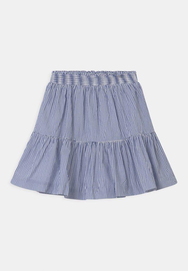 A-line skirt - royal/white