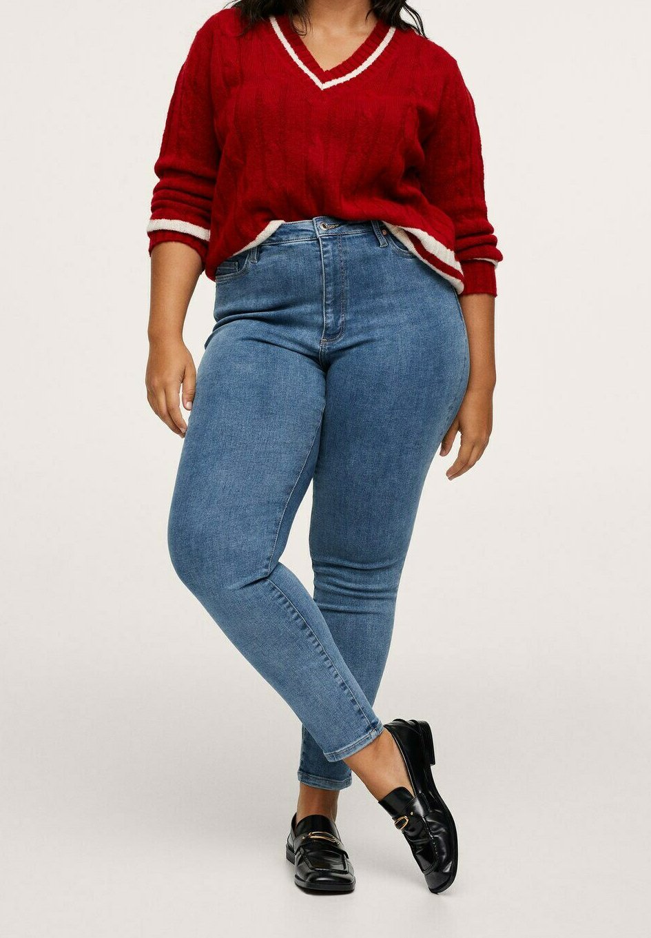 Women MIT HOHEM BUND - Jeans Skinny Fit