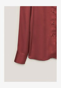 Massimo Dutti - Button-down blouse - bordeaux - 4