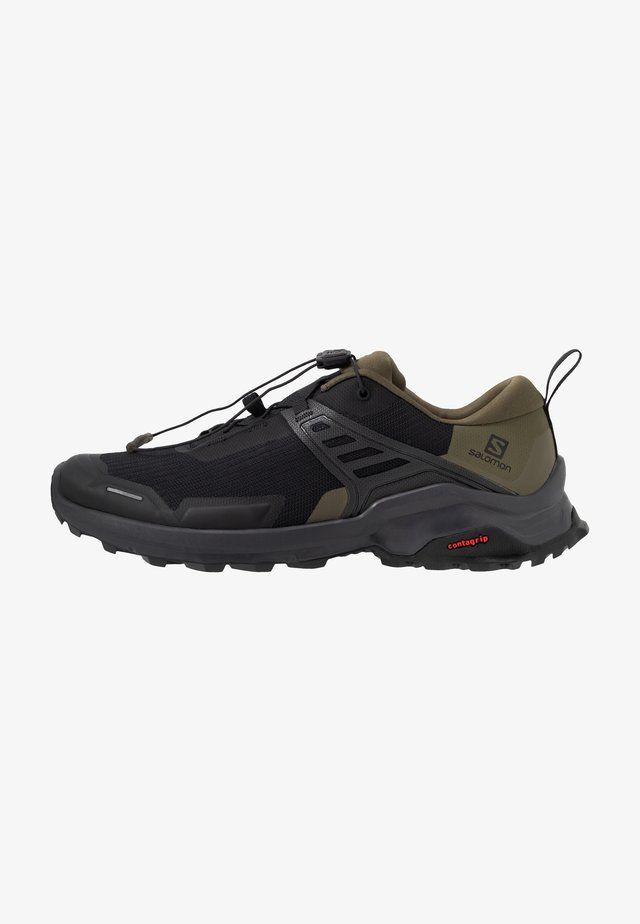 X RAISE - Hiking shoes - black/grape leaf/phantom