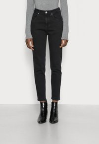 Marc O'Polo DENIM - FREJA - Relaxed fit jeans - black marble - 0