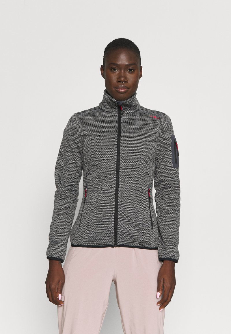 Campagnolo - Fleece jacket - nero/grey
